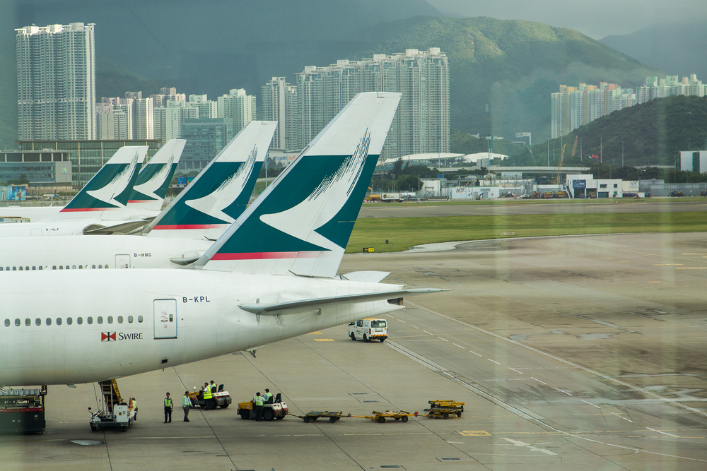 Tja Hongkong dus genoeg Cathay Pacific vliegtuigen.