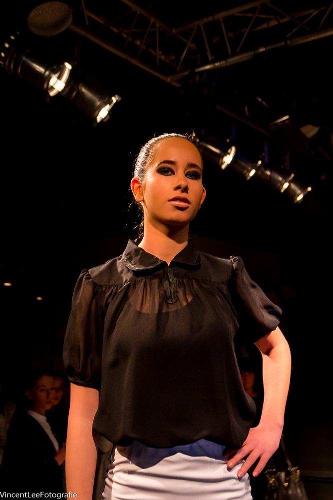 Tara Eikenbroek , voor het eerst op de catwalk en ze deed het geweldig