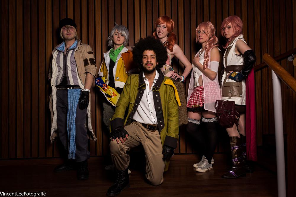 FF VIII groep, miste blijkbaar nog 1 cosplayer om de groep compleet te make.