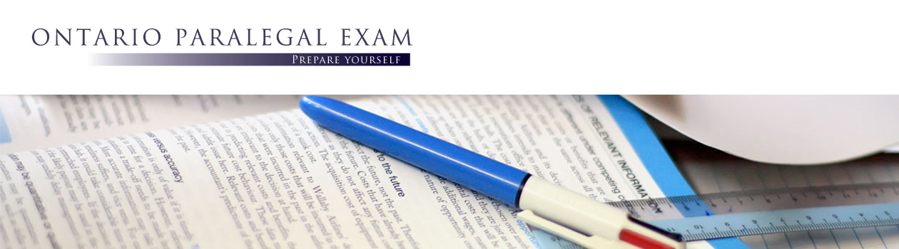 Ontario Paralegal Exam Practice Questions