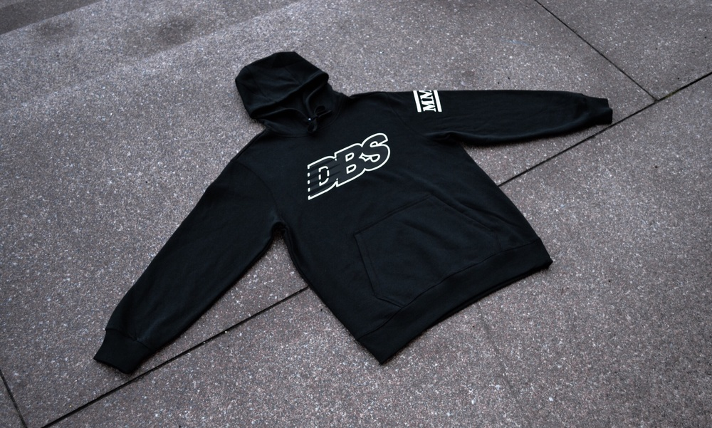 "The DBSMC ""Runner"" Hoody features a DBS logo inspired by one of the shop's favorite brands, New Balance."
