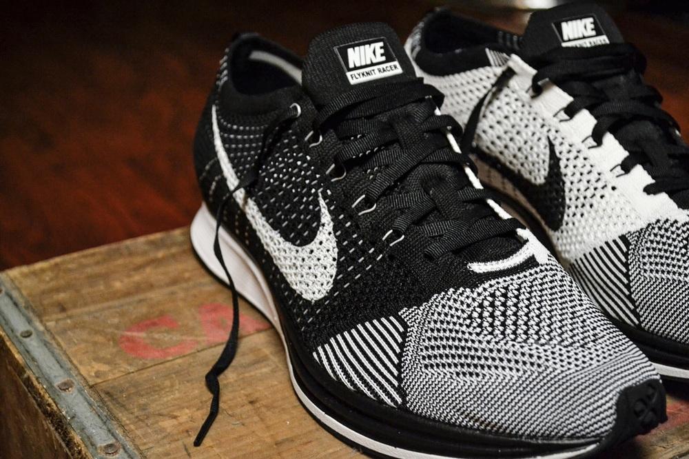 deecdcf718b8 Nike Flyknit Racer Black - White — Jordan Keyser