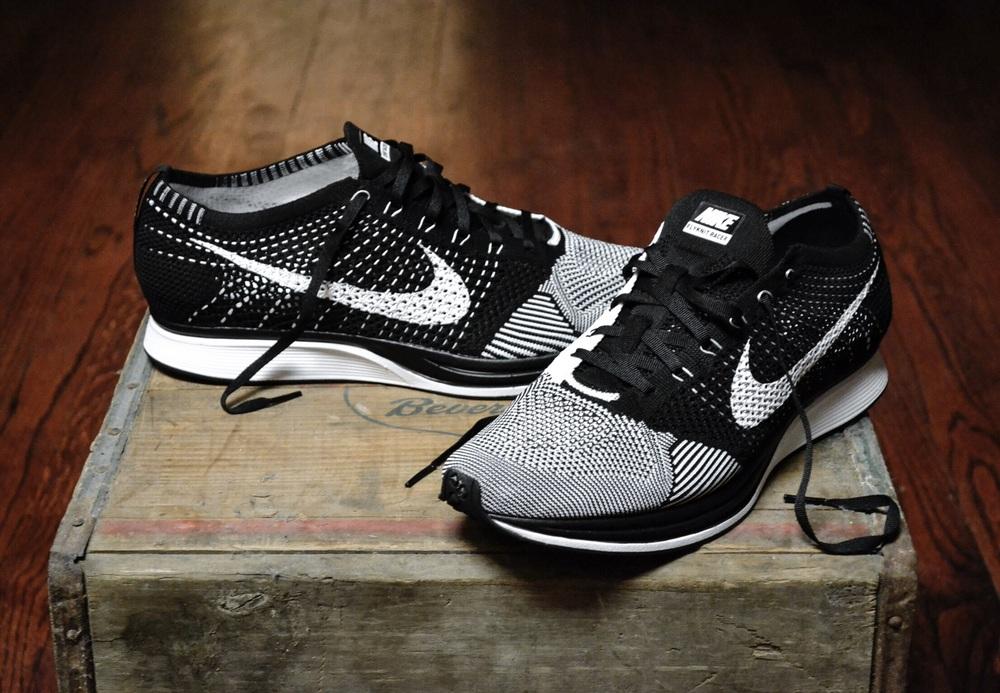 f4ea892df5d7e Nike Flyknit Racer Black - White — Jordan Keyser