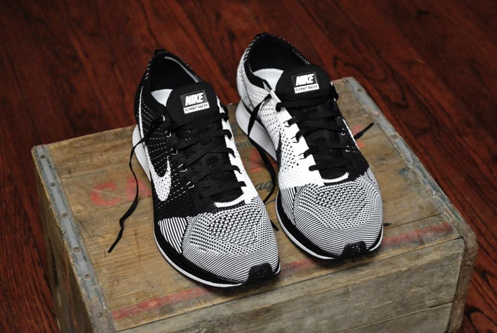 online store fb102 8054c Nike Flyknit Racer Black - White — Jordan Keyser