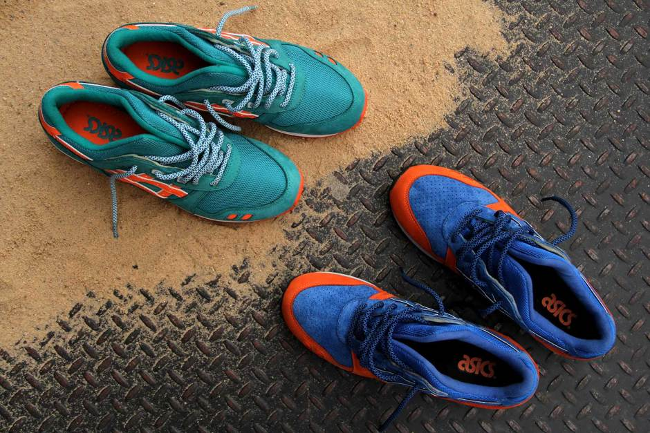 "A look back at the Asics Gel Lyte 3 ""Knicks"" and Miami"" from the 2013 East Coast Project by Kith."