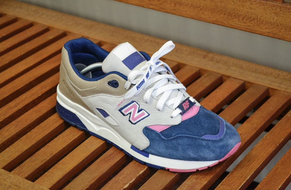 An up close look at the Ronnie Fieg x New Balance 1600 Daytona.