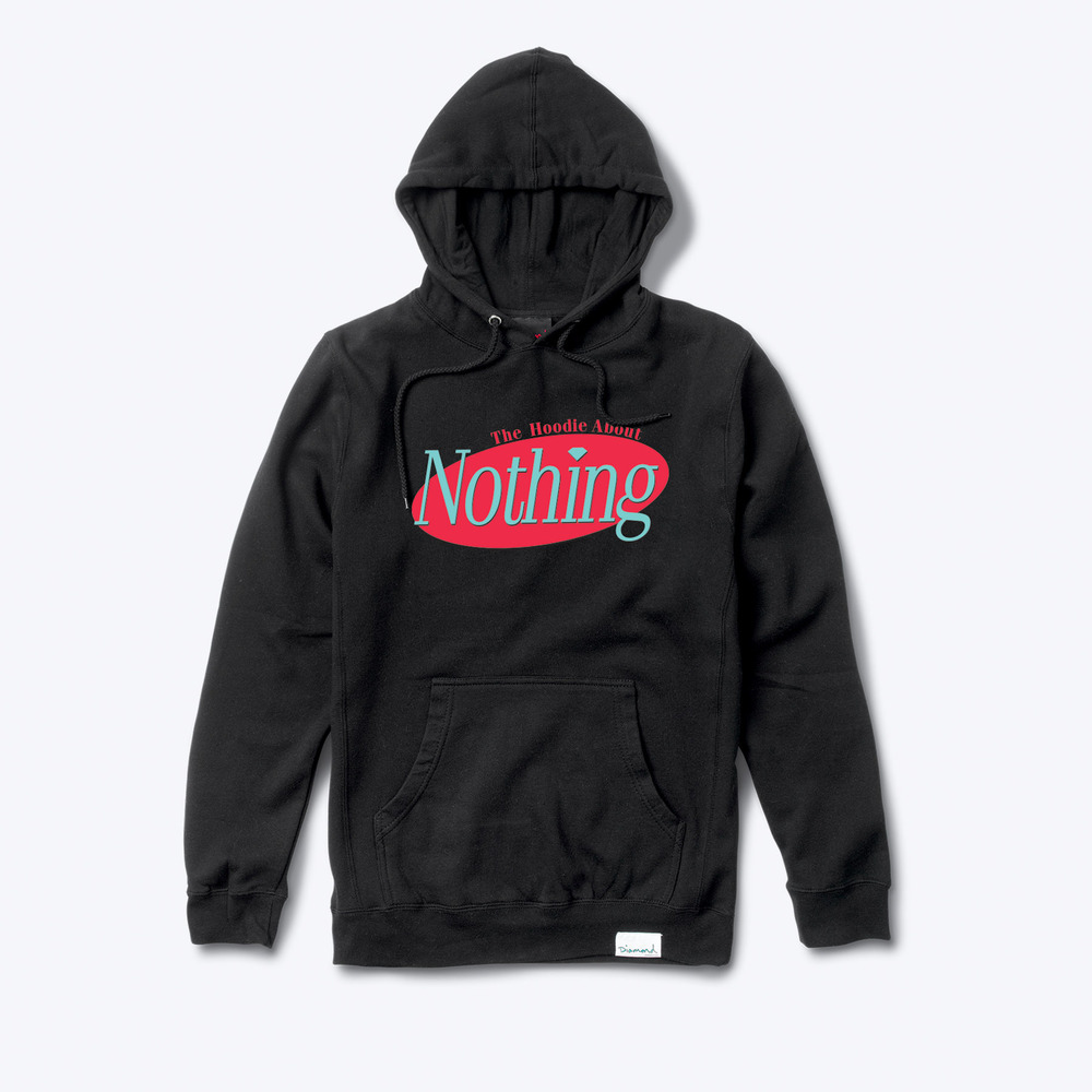 The Hoodie About Nothing, an exclusive collaborative release from Wale and Diamond Supply Co to commemorate the release of  The Album About Nothing