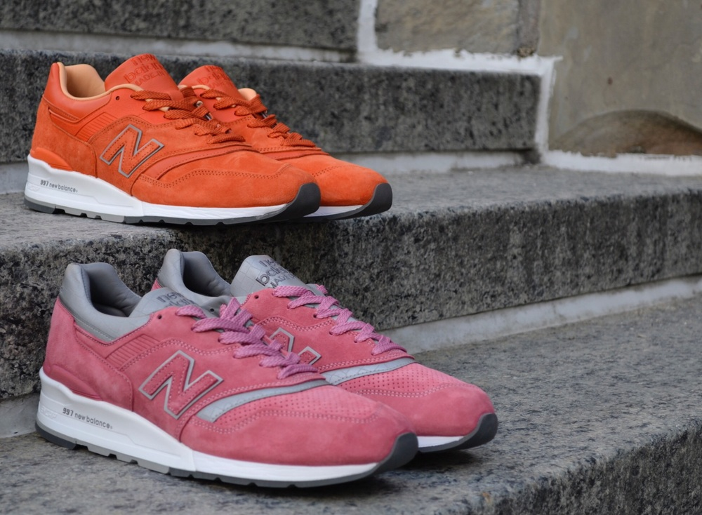The Concepts x New Balance 997 Collection comprised on the Luxury Goods 997 & Rosé 997.