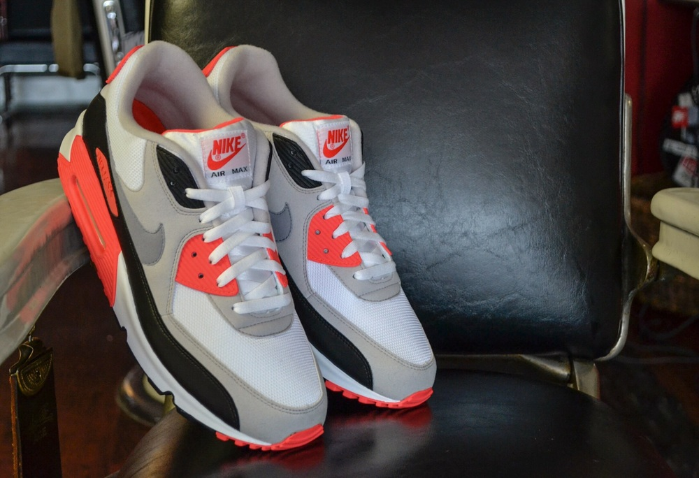 "1. The Nike Air Max 90 ""Infrared"""