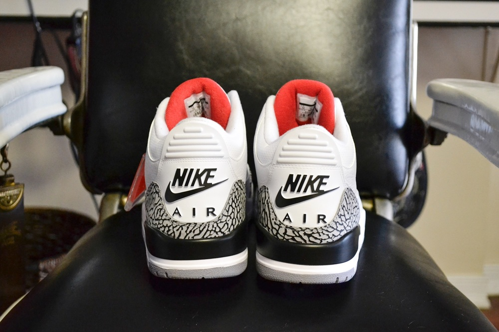 "3. The Air Jordan White 3 ""White Cement"""