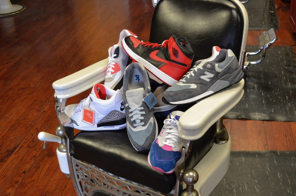 Dukes choices for My Top 5 seen here in his chair at Dukes Barber Shop.