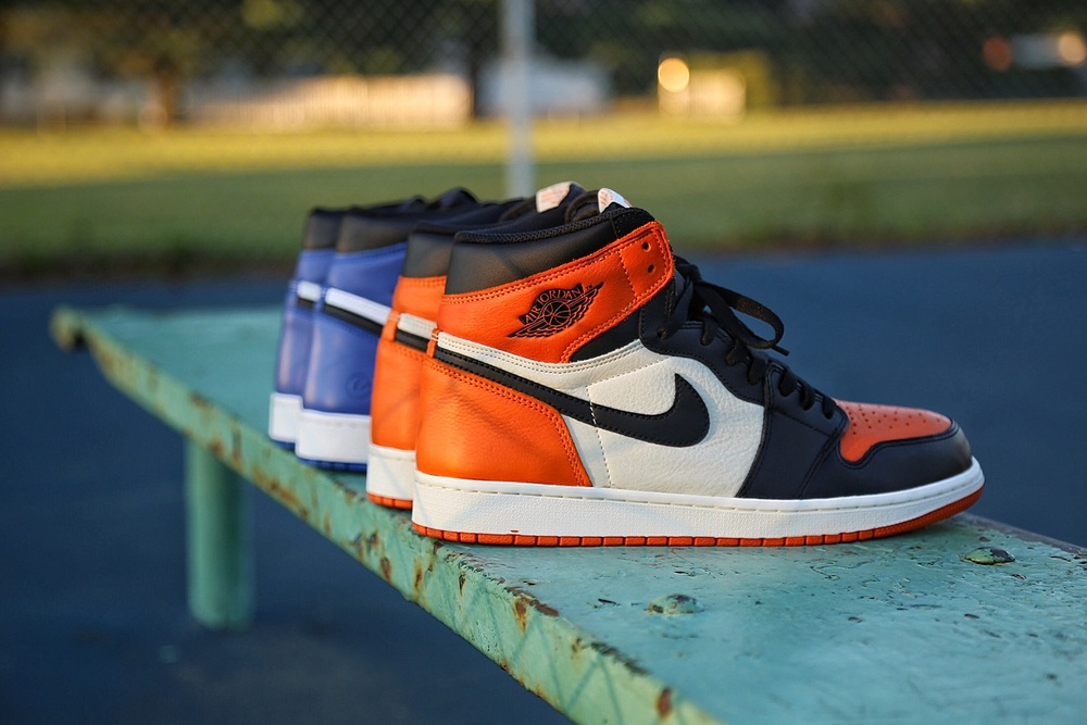"The Air Jordan 1 ""Shattered Backboard"" and the Air Jordan 1 x Fragment Design."