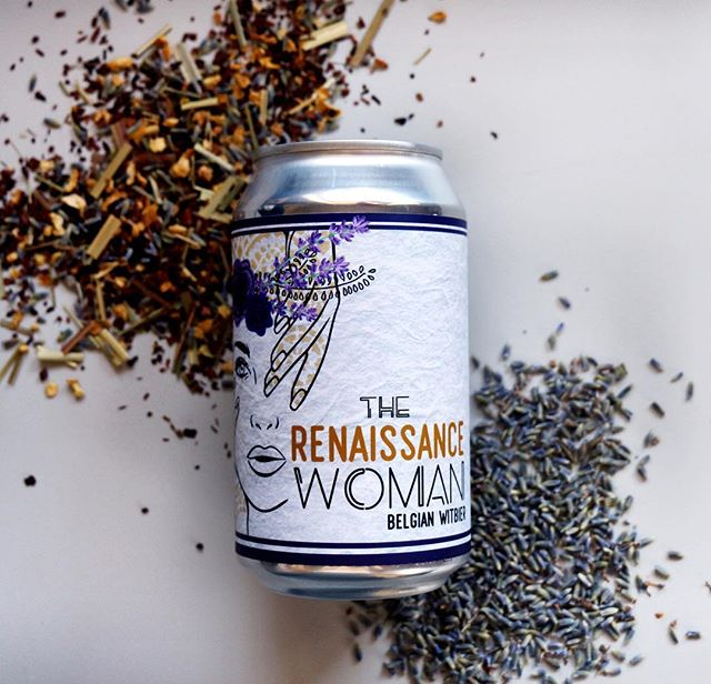 Now in the taproom - Renaissance Woman, a tea infused Belgian Witbier with tulsi ginger, lavender and honey bush 5% ABV