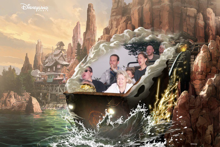 Foto oficial en atracción Big Thunder Mountain incluida con  PhotoPass
