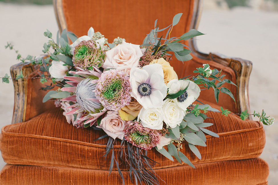 D.Lillian Photography, Seascape Flowers, Seventh Heaven Vintage Rentals