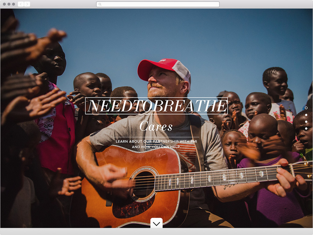NEEDTOBREATHE Cares - visit site