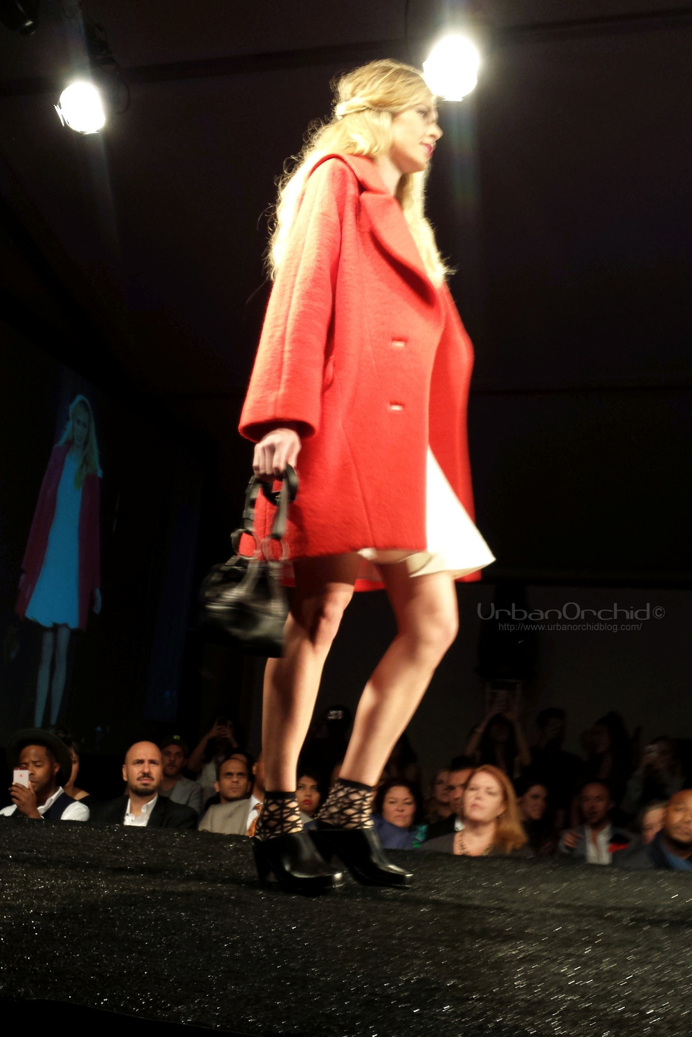 Red coat from Stephanie's.