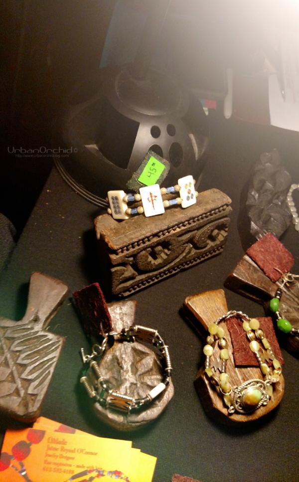 Mah-jong tile bracelet by Omade.