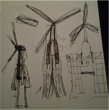 Early design sketches