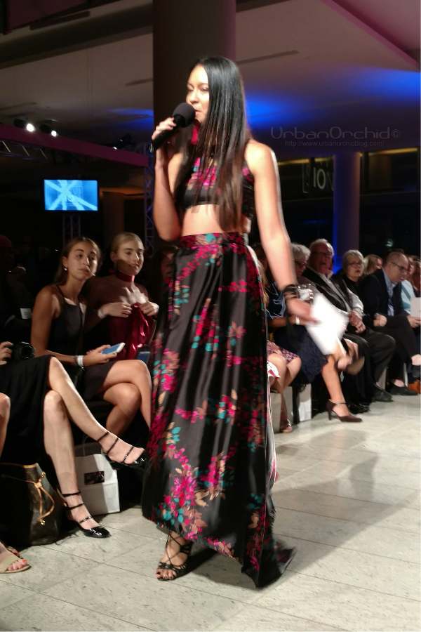 Tricia Heuring wearing House of Ngyuen Designs to host Envision's 10th Anniversary.
