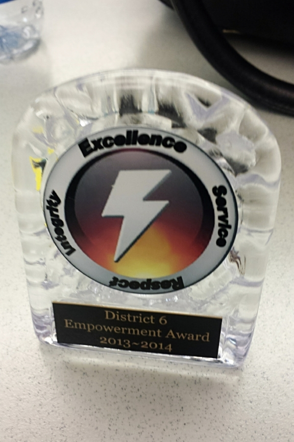 Toastmasters District 6 Empowerment Award