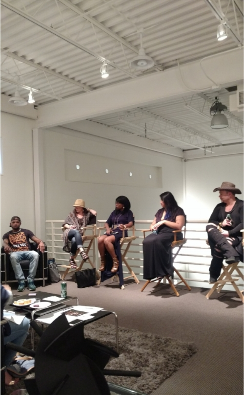 At Fashion Industry Nights in June - L to R: JR Walker, Joie Schubert, Vanessa Donnelly, Liz Mauban, Grant Whittaker.
