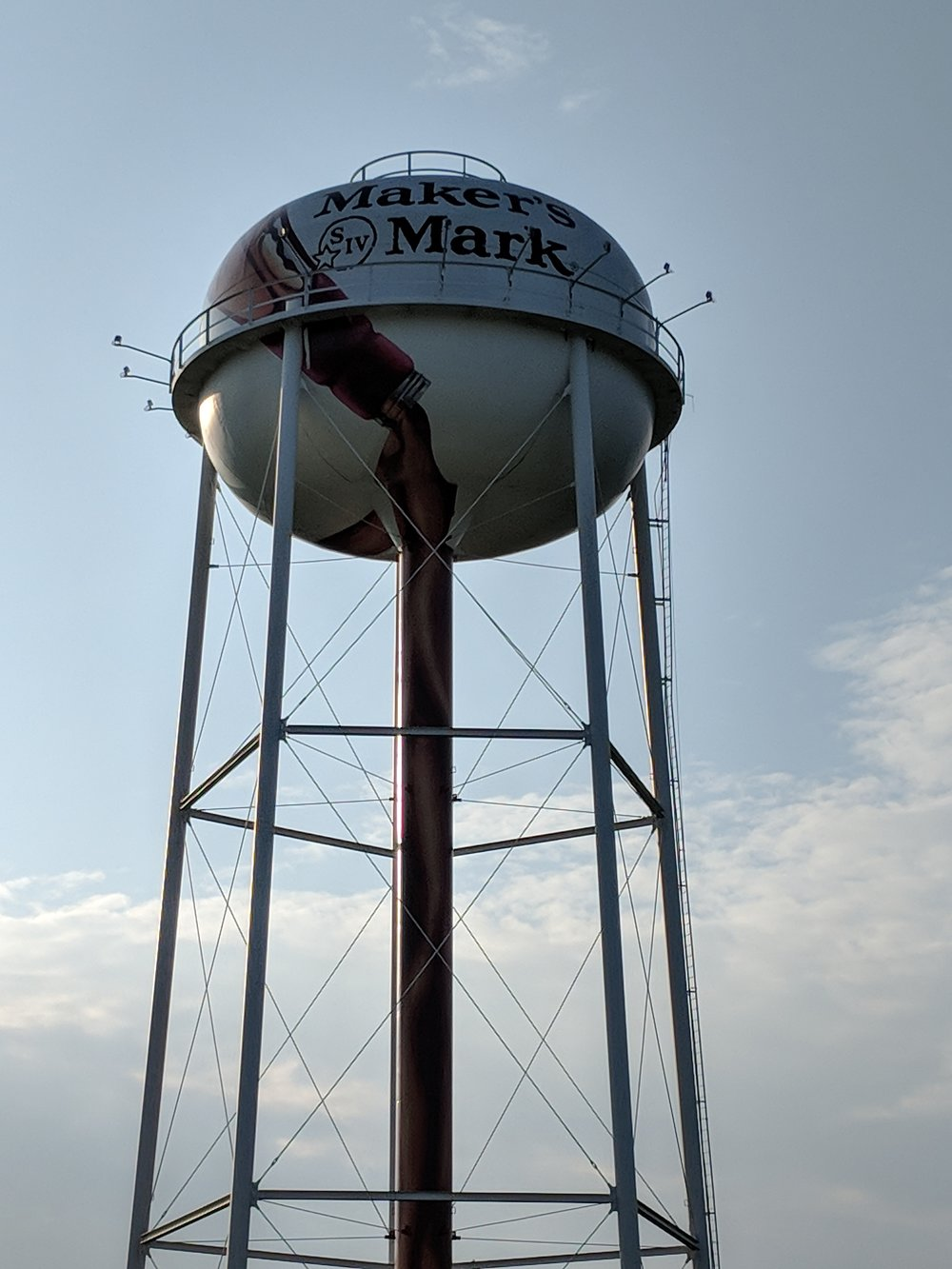 The Maker's Mark/Lebanon, KY water tower in the morning