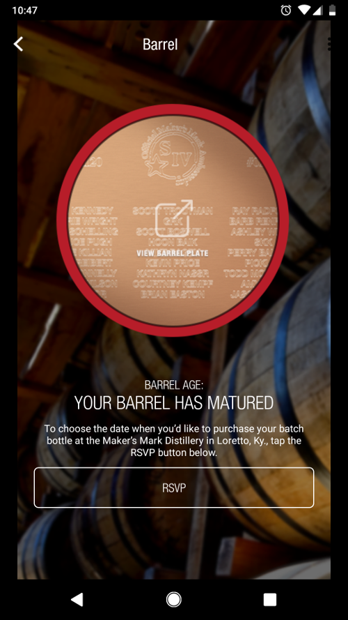 My barrel progress at maturity