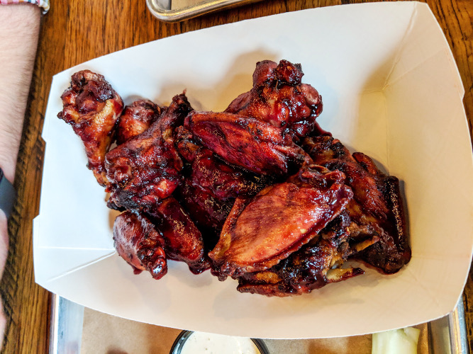 Blackberry Habanero Smoked Chicken Wings at Willie's Locally Known