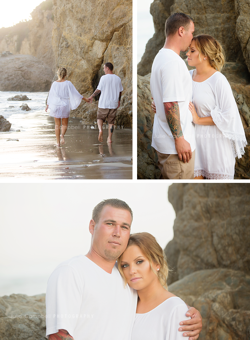 Family Portraits at the Beach in Malibu