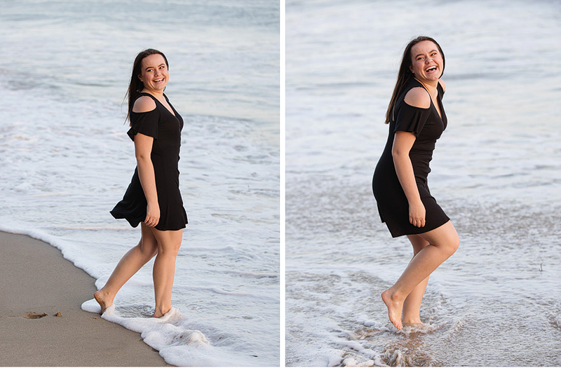 Senior pictures at the beach