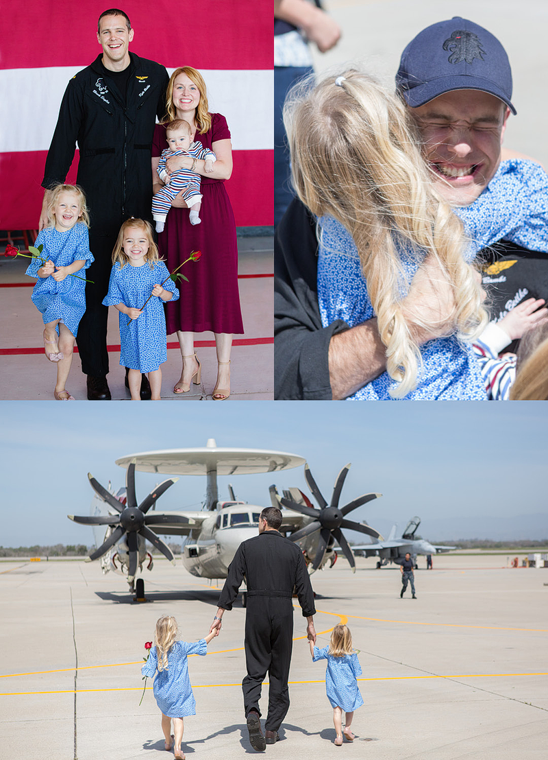 Military Homecoming in Point Mugu, California