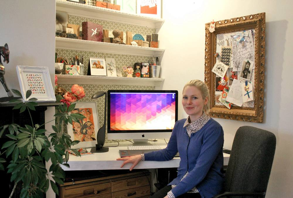 Kary Fisher moves things around every few months to keep her inspired.