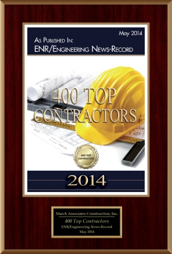 March Associates Construction was featured on the Engineering News Record's Top 400 Contractors list in 2014