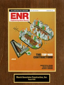 March Associates Construction was featured on the Engineering News Record's Top 400 Contractors list in 2012