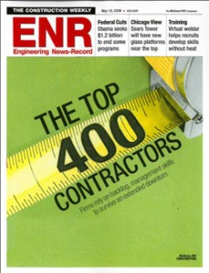 March Associates Construction was featured on the Engineering News Record's Top 400 Contractors list in 2009