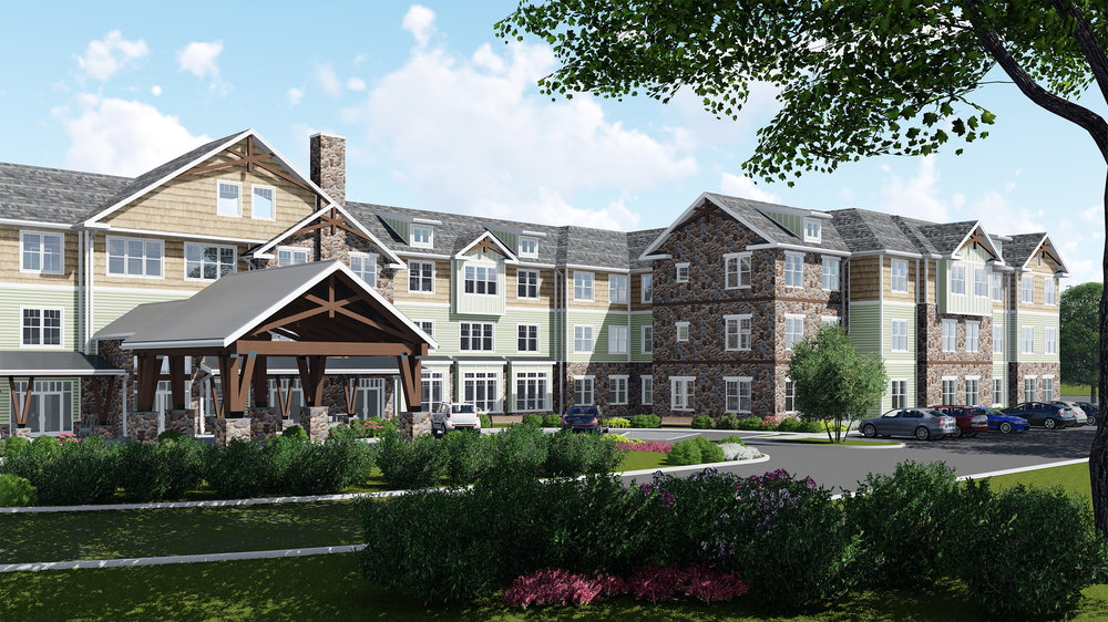 Rendering of Capitol Seniors Housing in Greenburgh, NY Currently Being Build by March Construction