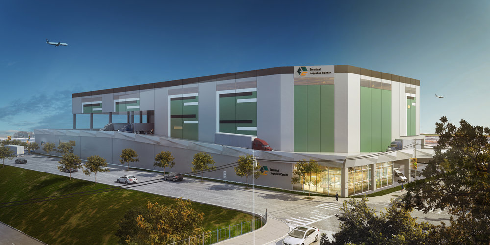 Terminal Logistics Center Rendering - project being built by march construction services
