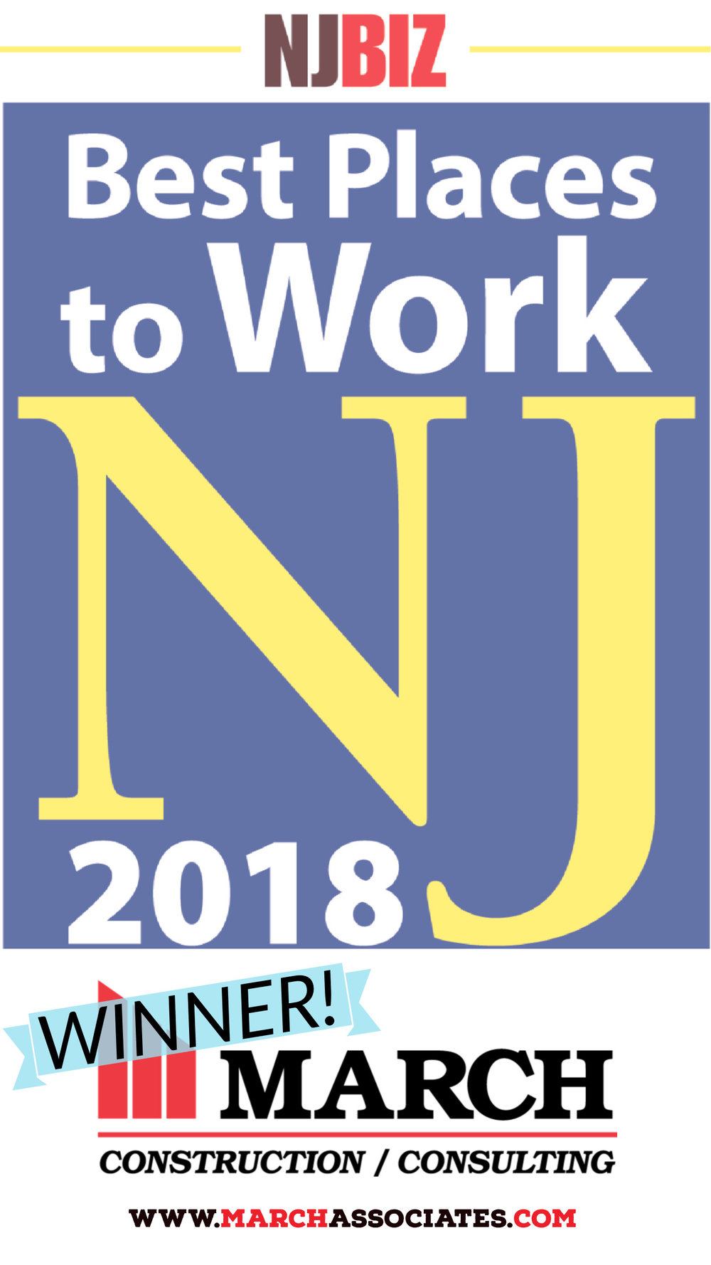 March Construction rated one of the Best places to work in NJ