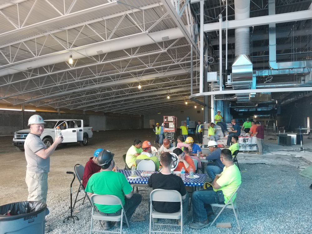 Memorial Day Picnic at our Lidl Union job site. 🍔🍗🥗🍪🇺🇸