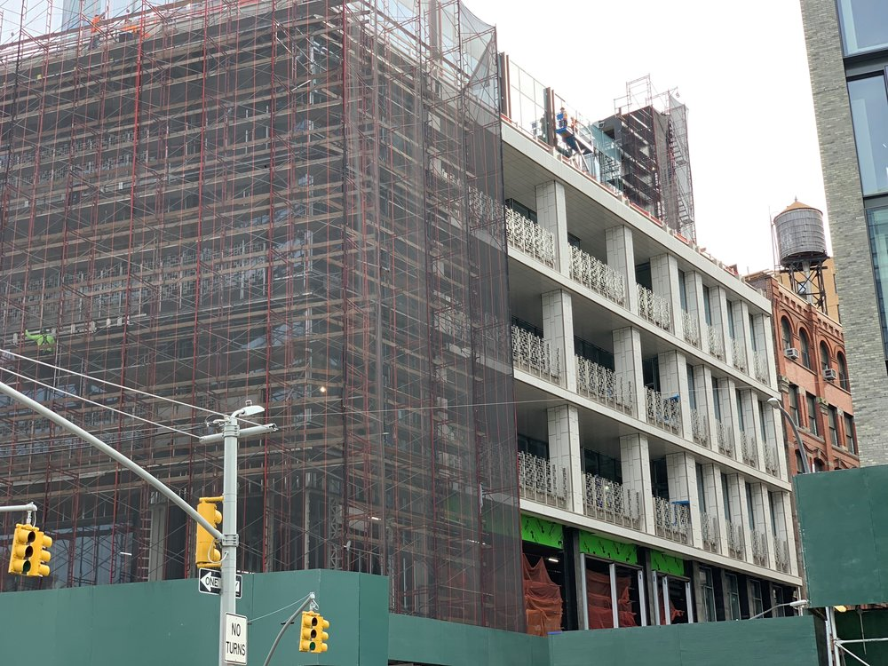 Project Milestone: 300 Lafayette Scaffolding Removal Reveal March Construction