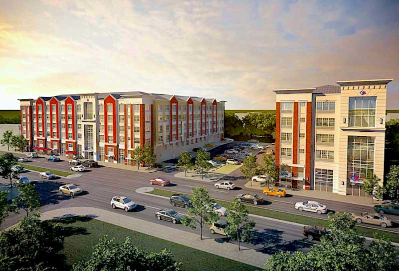 Meridia on Westfield in Roselle PArk Rendering project being built by March Associates Construction