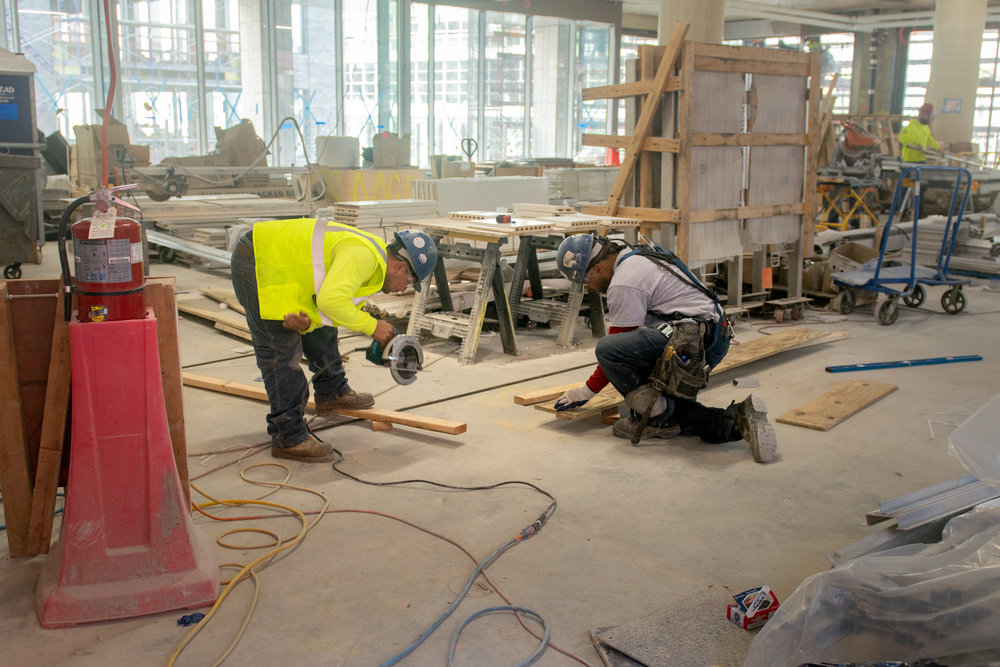 300 Lafayette St Office Interior Construction Workers