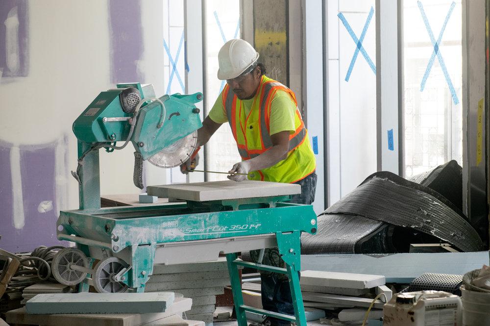 300 Lafayette St Office Interior Construction Worker