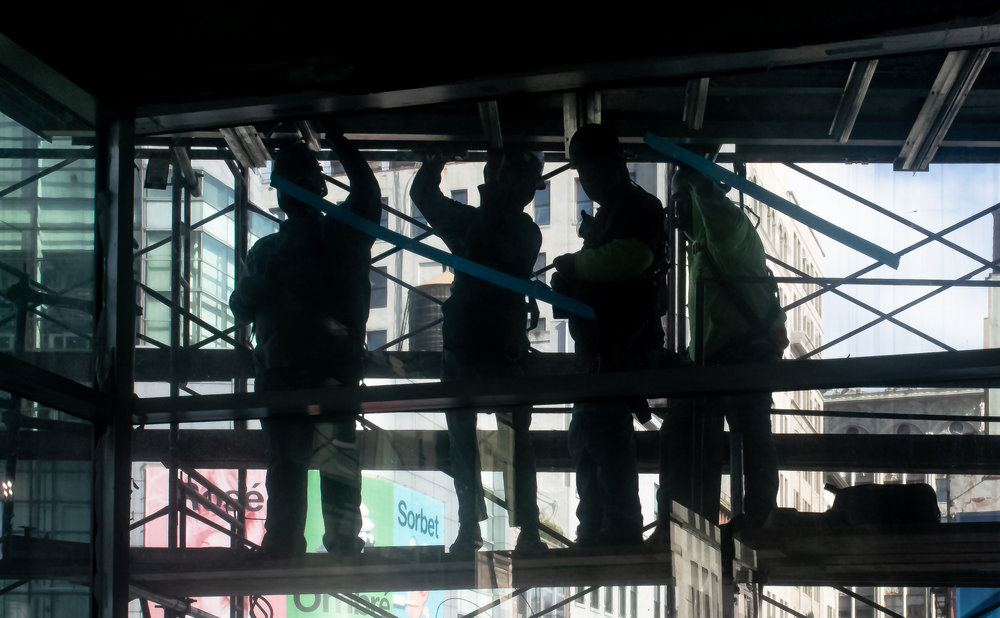 300 Lafayette St Office Construction Workers Silhouette