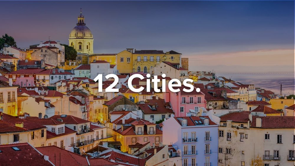Travel to 12 cities
