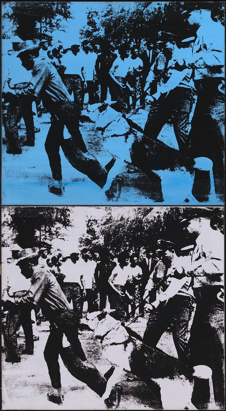 Little Race Riot,  Andy Warhol. 1964.