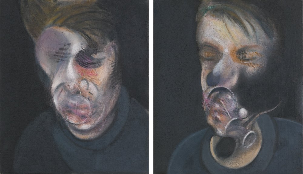 Two Studies for Self-Portrait  . Francis Bacon, 1977