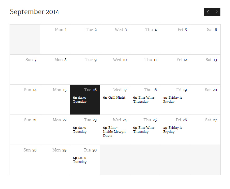 Don't miss a thing with our newcalendar of events
