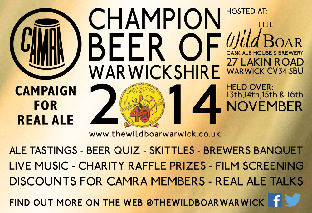 champ beer of warwickshire